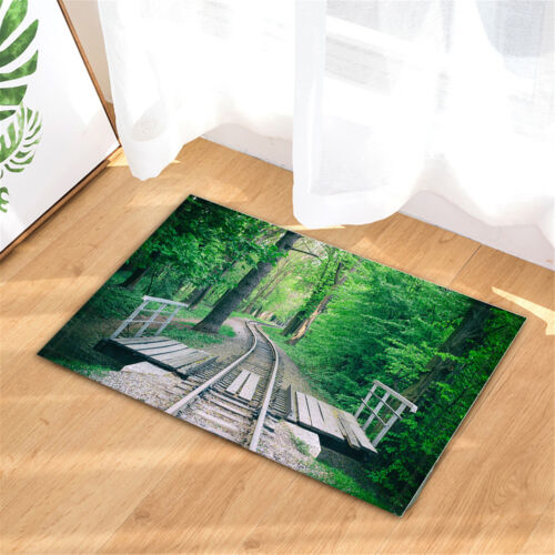 Railroad Bridge in Woods Shower Curtain for Bathroom Waterproof Polyester Fabric