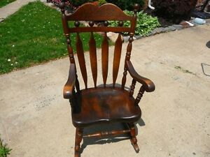 ... about Ethan Allen Antiqued Old Tavern Pine Rocking Chair 12 9019