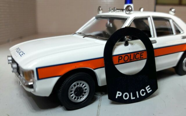 Classic Vintage Police Car Light Lucas Dash Panel Switch Tag Tab Collar