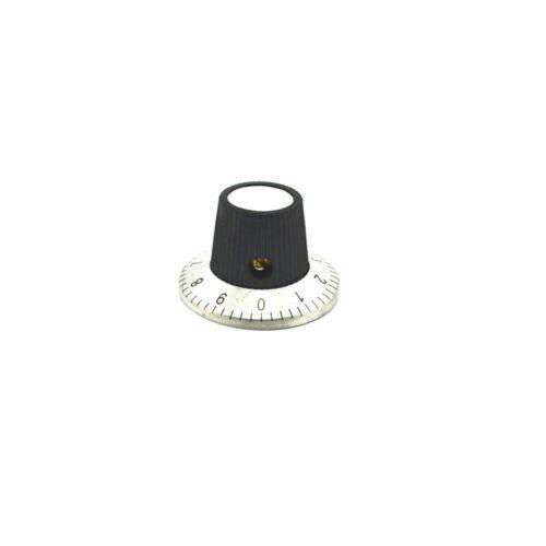 30 mm x 18 mm Potentiomètre de Contrôle du volume Rotary cannelée Digital Knob Cap 6 mm 5PCS