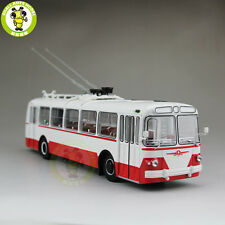 1/43 ZIU-5 ZIU 5 Russian Soviet Trolleybus Bus Classic 04006B Diecast Model Red