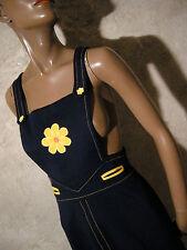 CHIC VINTAGE ROBE JERSEY 1960 VTG DRESS 1960's MOD TWIGGY KLEID 60er (36/38)