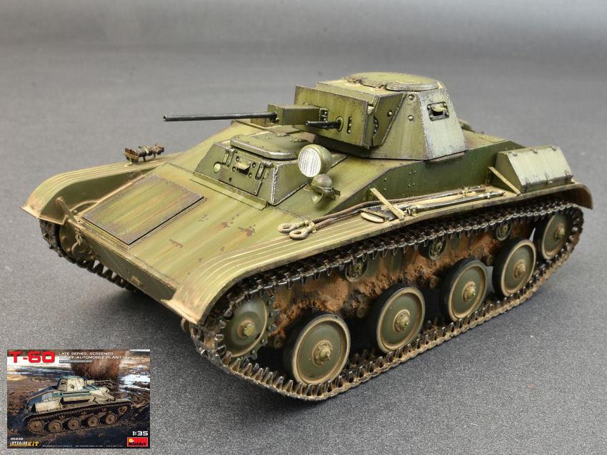 T-60 Late Series Screened Interior Tank Plastic Kit 1 35 Model MINIART