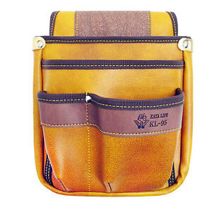 Soft Leather Tool Pouch Carpenter Electrician Tool 4