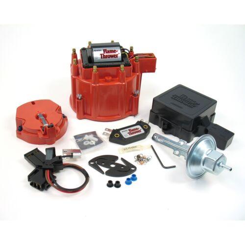 Pertronix D8001 Flame-Thrower HEI Street Strip Kit Red Cap w// 50kv Coil Module