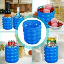 Summer Ice Cube Maker Genie Silicone Ice Bucket Space Saving Ice Cube Refillable