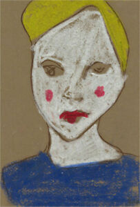 Ben Carrivick - Contemporary Pastel, Rosy Cheeks and Blue Shirt