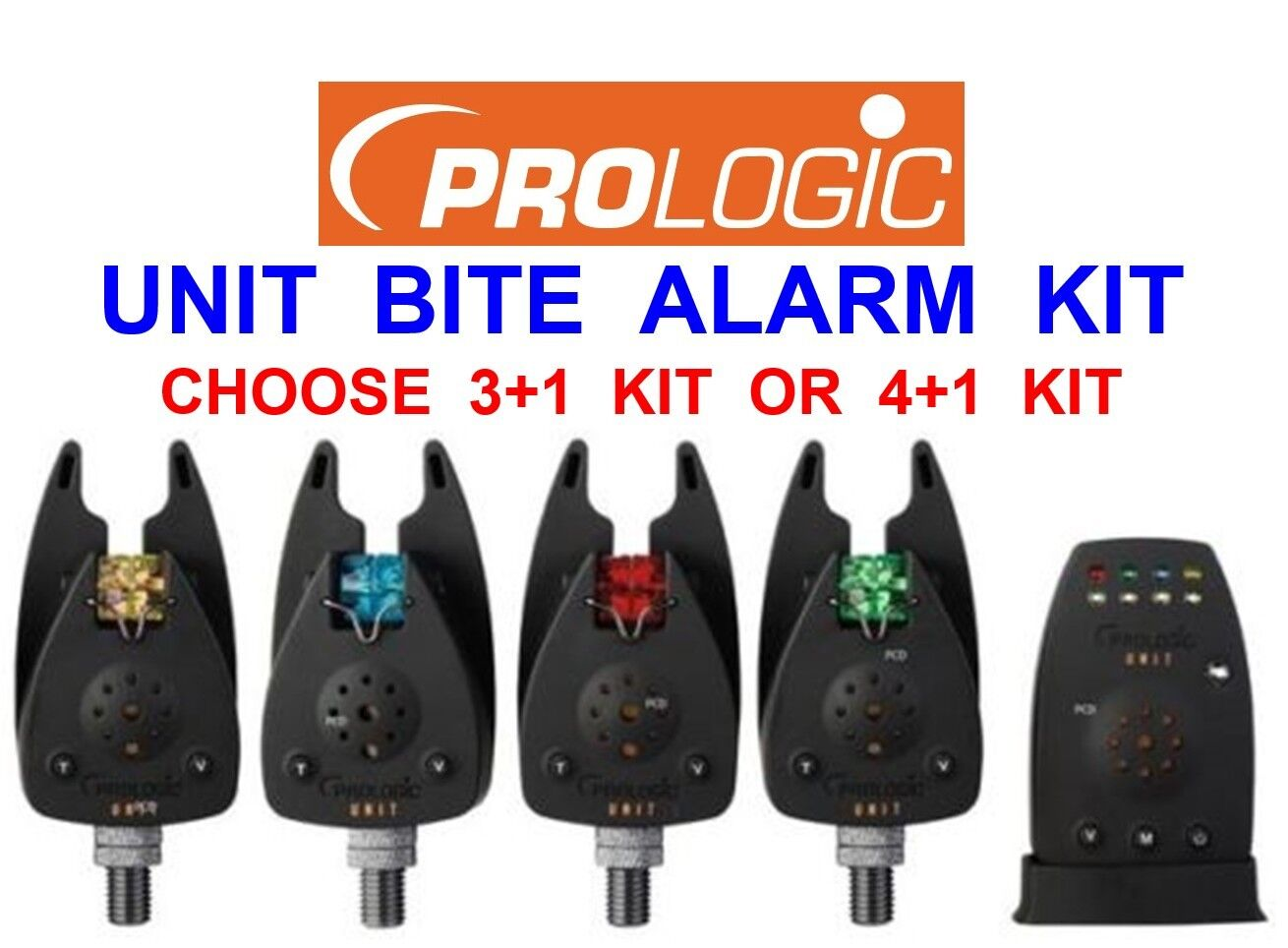 PROLOGIC UNIT WIRELESS BITE ALARM KIT+CASE BARBEL PIKE CARP FISHING ROD POD REST
