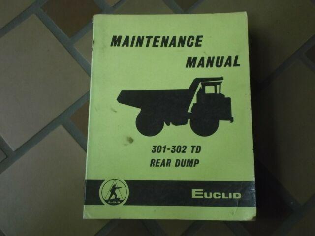 Euclid 301td 302td Rear Dump Rock Quarry Truck Hauler Shop