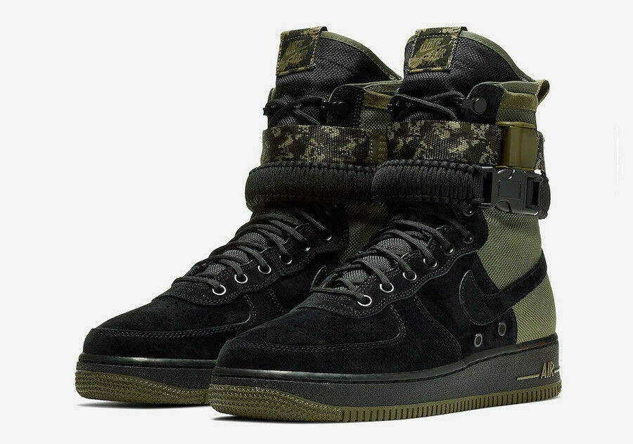 Nike SF Air Force 1 Mens Size 9 Camo Boots AF1 Olive 864024 004