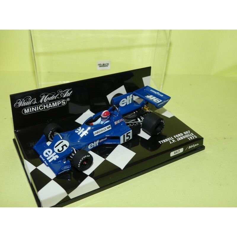 TYRRELL FORD 007 1975 J.P. JABOUILLE MINICHAMPS 1 43