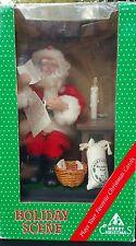 Animated Santa Claus Figure Lighted Musical Christmas Holiday Creations Vintage