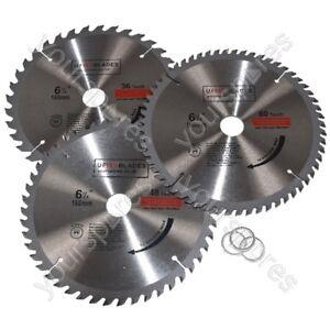 SEGATRICE-A-DISCO-LAME-160-mm-x-20-mm-TCT-36-48-60-DENTI-Triple-Pack-si-adatta-a-Metabo