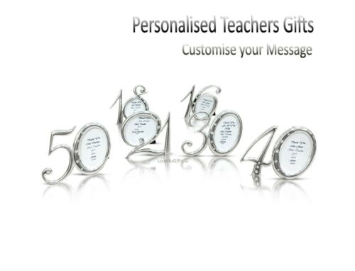 Details about  /Personalised Photo Frame Birthday Christmas Teachers Gift Leaving Present