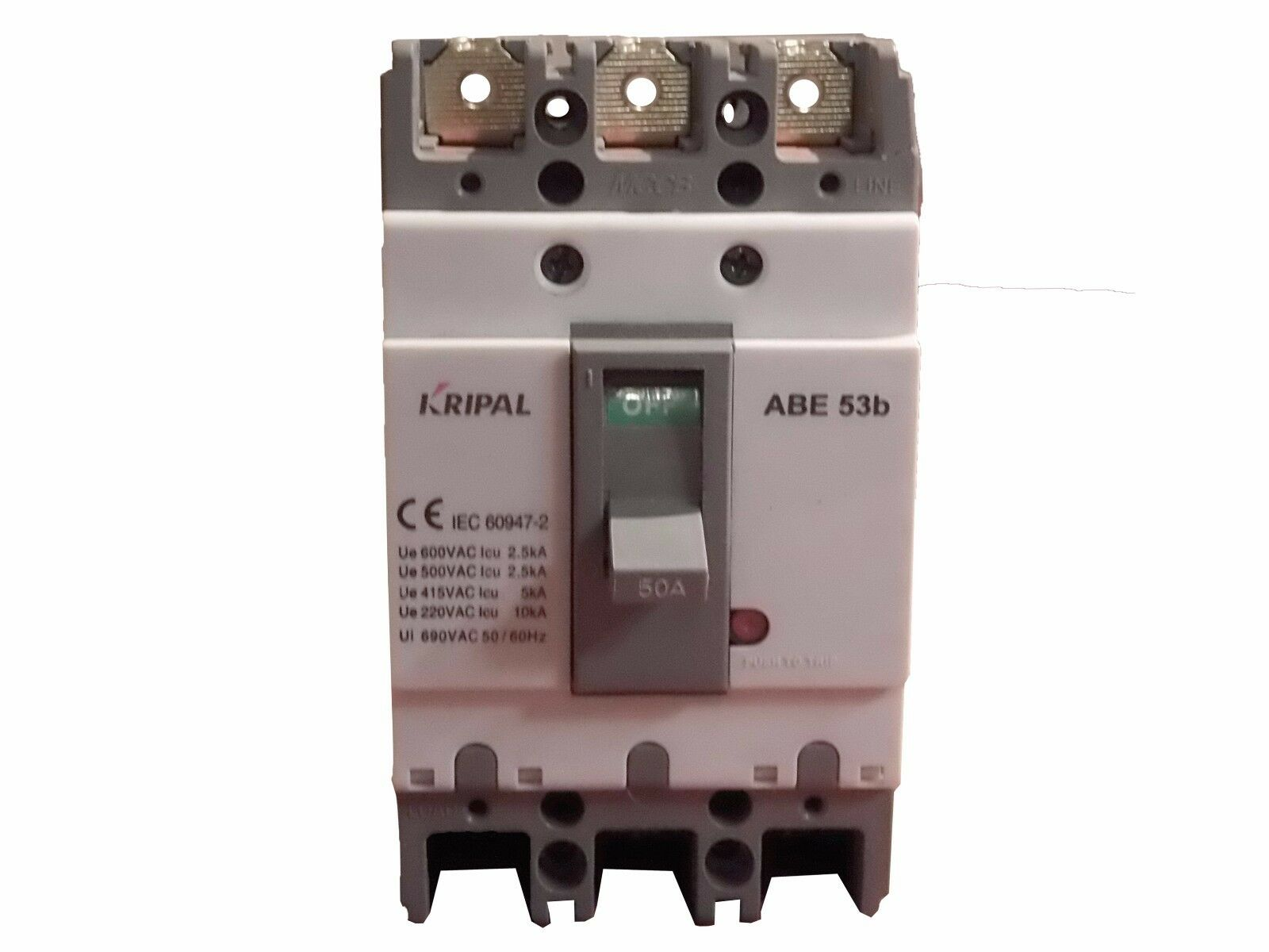 THREE PHASE Cut-Off Switch KRIPAL ABE53B 50 Amp INTERRUPTOR