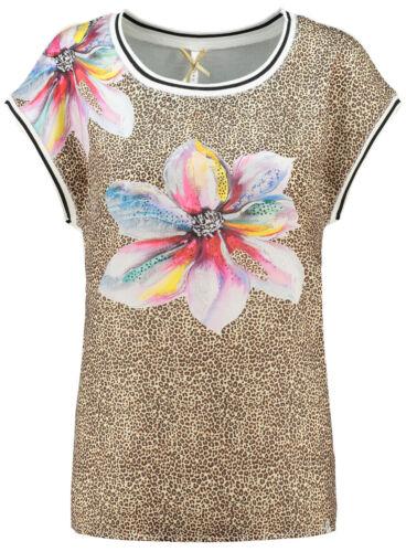 Key Largo T-shirt Femmes Great Round Col Rond Manches Courtes Animal-Motif Fleur wt00157