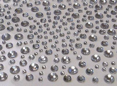 325 2,3,4& 5mm Self Adhesive DIAMANTE Stick on Rhinestone Gems Sticky Gem Pearls