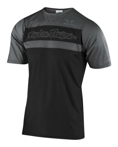 Troy Lee Designs Mountain Bike Skyline Air SS Jersey; Factory Black Gray Lg