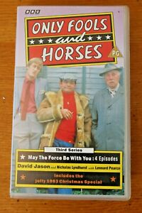 VHS-Tape-Only-Fools-amp-Horses-May-the-Force-3rd-Series-4-x-Classic-Episodes-PAL