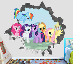 My Little Pony Friendship Magic Wall Decal 3d Smashed Sticker Mural