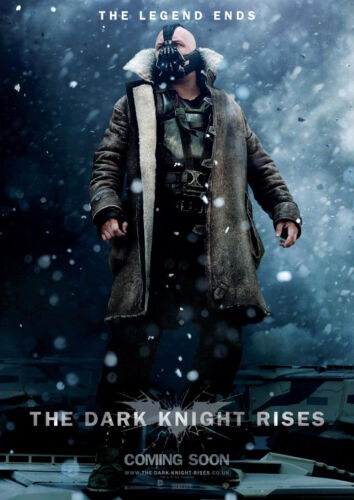 STICKER AUTOCOLLANT POSTER A4 FILM BATMAN THE DARK KNIGHT RISES PERSONNAGE BANE