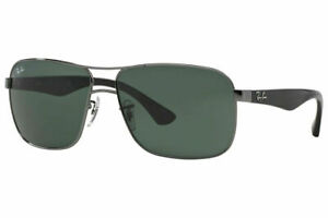 Ray Ban RB3516  004/71 Sunglasses Gunmetal Frame  w/ Green Lens 59mm