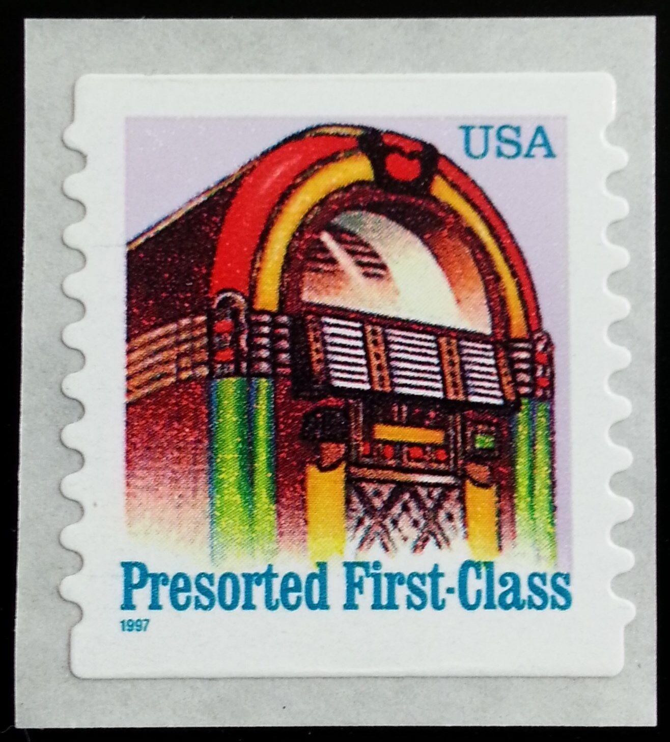 1997 25c Juke Box, American Designs, Coil Scott 2912b M
