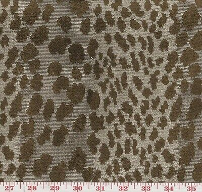 P Kaufmann Meowww Tobacco Jungle Cat Spot Woven Fabric BTY