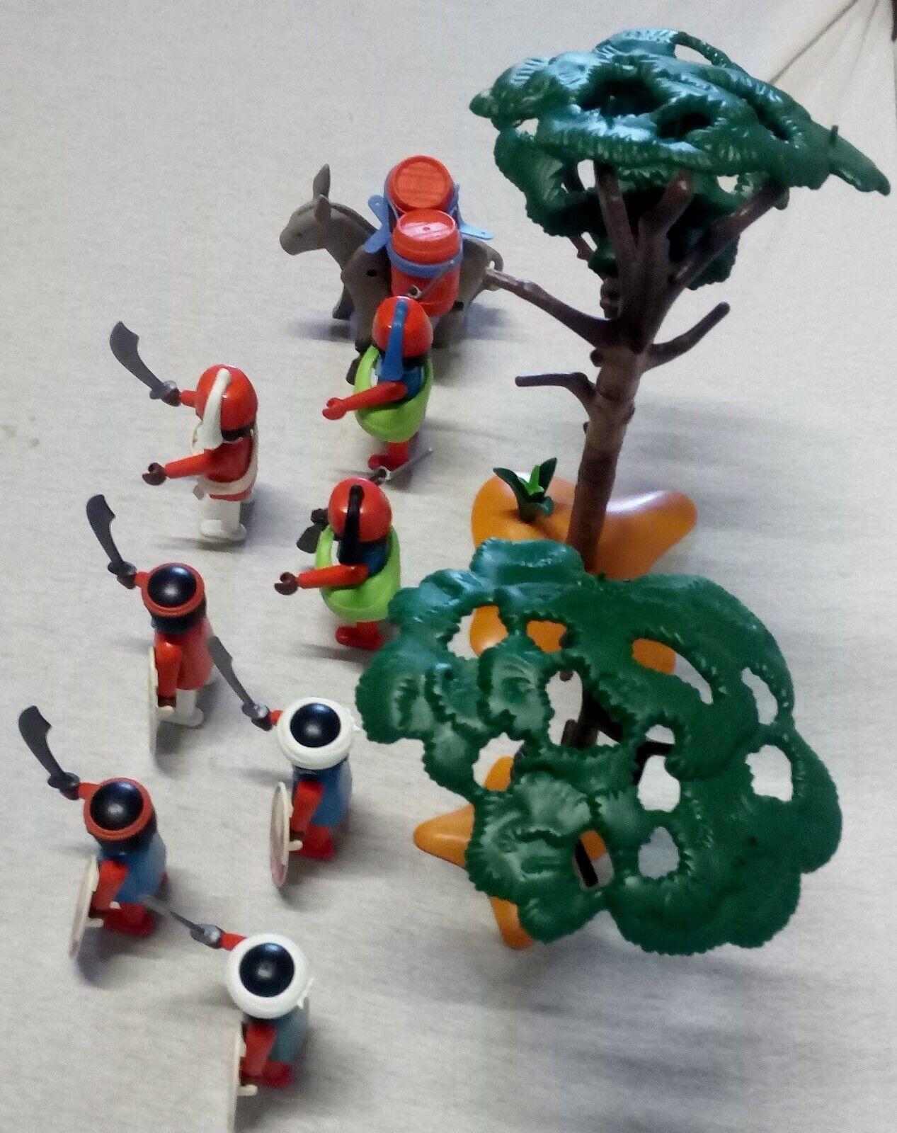 LOT PLAYMOBIL PLAYMOBIL PLAYMOBIL ARMEE INDIGENE- RARES- VEGETATION 000bbd