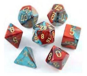 Chessex Dice-polyhédrique 7 Die Set-gemini Rouge & Bleu Sarcelle-afficher Le Titre D'origine
