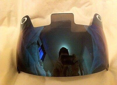 New Oakley Blue Football Visor Shield Mirror Youth Adult