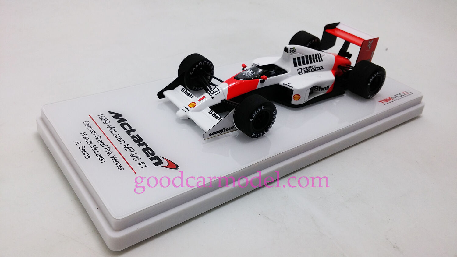 New 1 43 TSM Car Model 1989 McLaren MP4 5 5 5  1 German Grand Prix Winner TSM154336 2b1