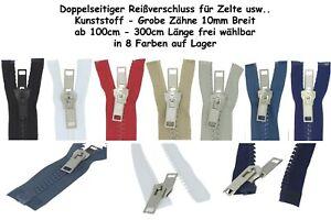 beidseitiger-Reissverschluss-Kunststoff-teilbar-GROB-mit-Doppelschieber-fuer-Zelte