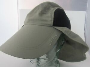 COLUMBIA PFG Fishing HAT Sun Shade Neck Ear Cover UPF 30+ Green ... bd708dc291b