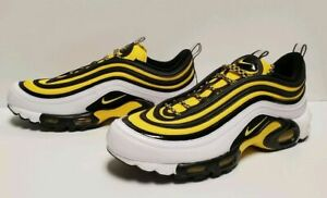 Details about Nike Mens Air Max 97 Plus TN Frequency White Yellow Black ( AV7936 100 ) SZ 10.5