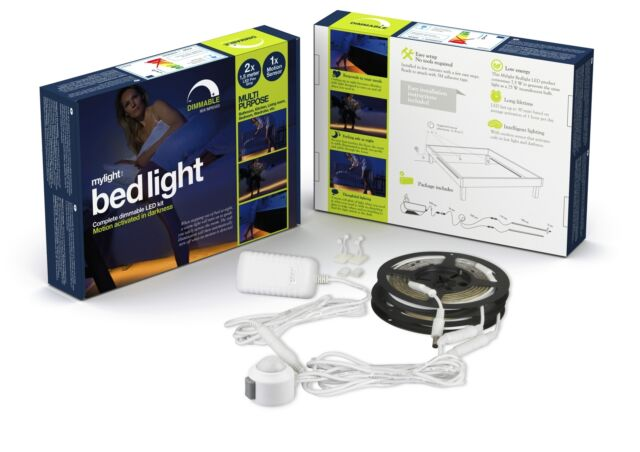 LED Bettlicht  - stufenlos dimmbares Nachtlicht mit Bewegungsmelder - Nachtlicht