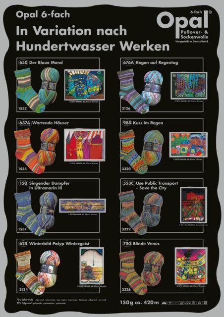 Sockenwolle Opal Hundertwasser 6Fach-150gr. -NEU