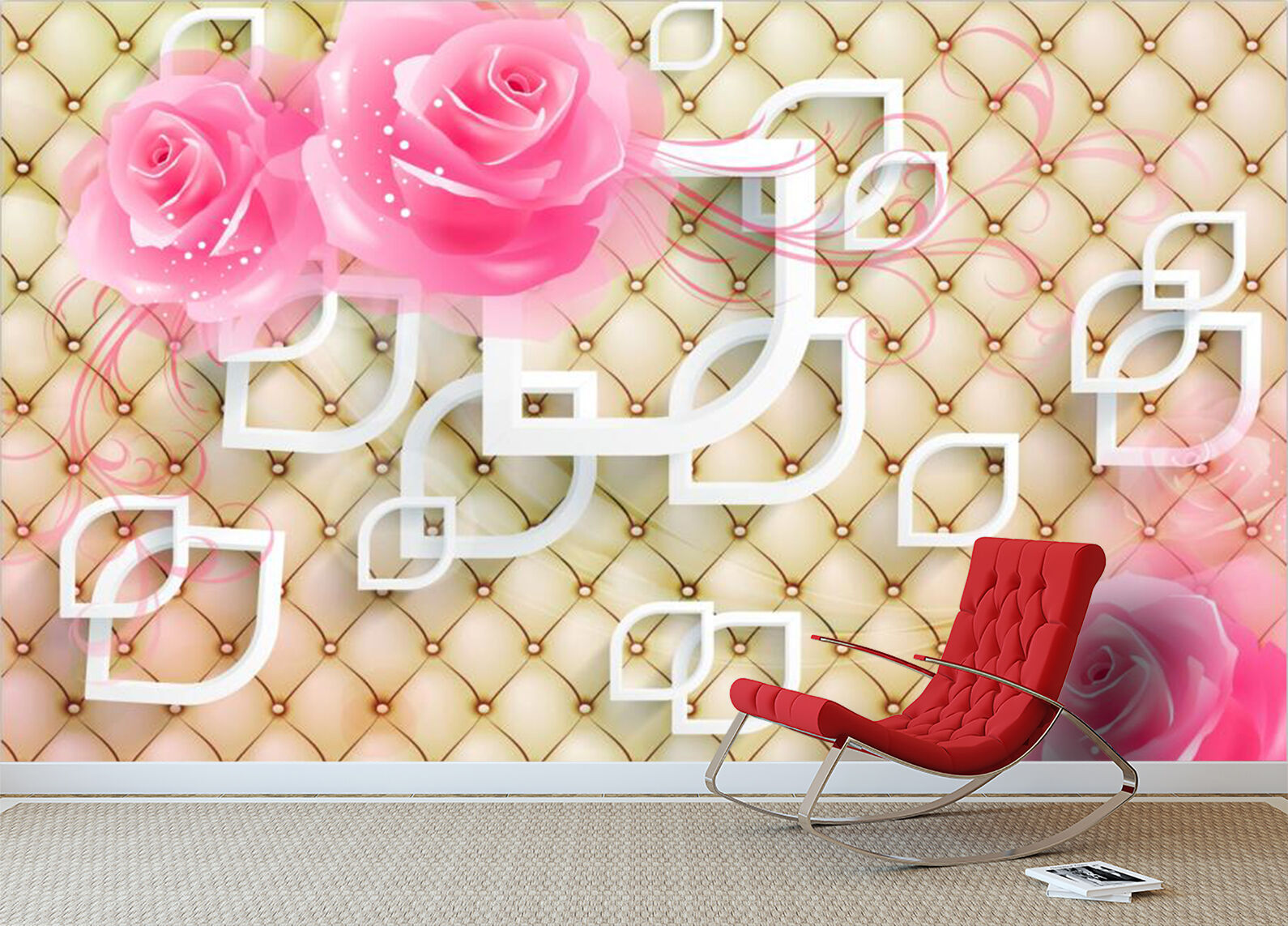 3D Floral texture Beautiful Wall Paper Print Decal Wall Wall Wall Deco Indoor wall Mural 942bec