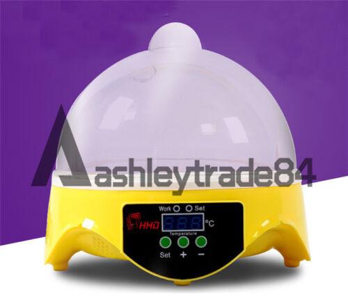 7 Egg Micro Incubator Home Chicken Duck Bird Hatch Tool Mini Automatic Digital