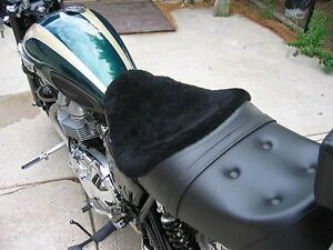 Motorcycle Sheepskin Seat Cover Cruisers Or Medium Size Made In Usa Ebay