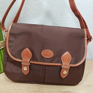 Details about Longchamp Messenger Brown Bag Saddle Bag Crossbody Mint show original title