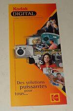 Dépliant publicitaire Appareils Photo numériques KODAK Digital : DC240 - DC290..