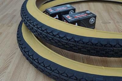 2 DURO CRUISER BICYCLE TIRES 26X2.125 O.G KNOBBY GUMWALL /&TUBES TWO