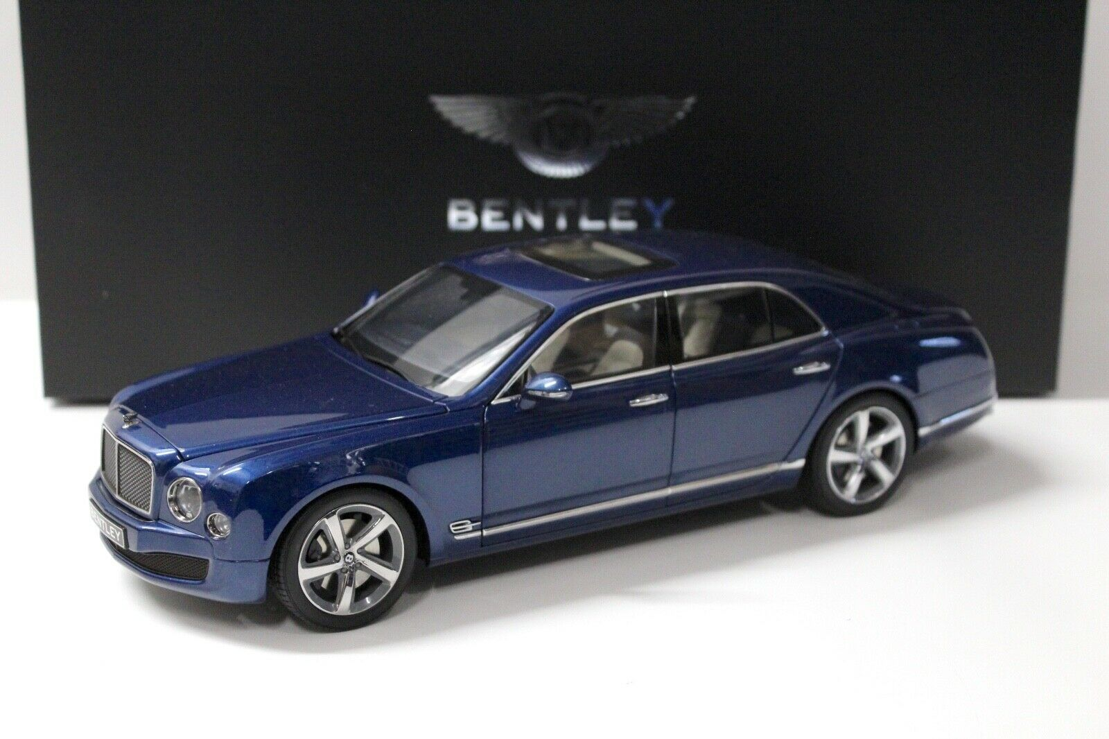 1 18 Kyosho Bentley mulsanne Speed Marlin blu dealer New en Premium-modelcars