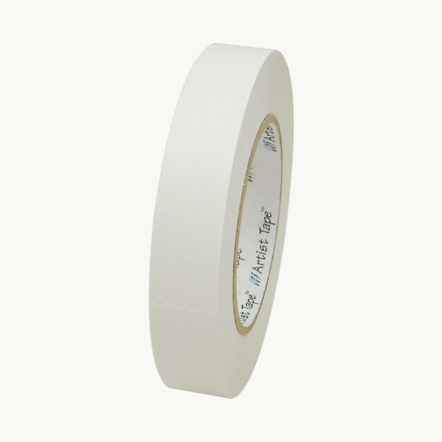ProTapes Artist Tape Flatback Printable Paper Board or Console Tape White 60 Yds Length X 1 Width Pack of 1