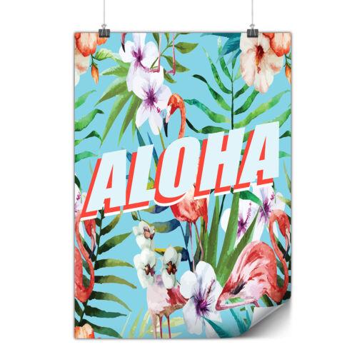 Aloha Holiday Matte//Glossy PosterWellcoda