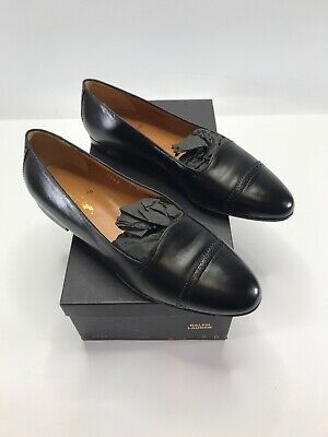 4764 Calf Leather Flats Loafers Black
