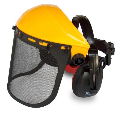 2119 Gesicht /& Gehörschutz für Motorsense Kopfschutz Visier