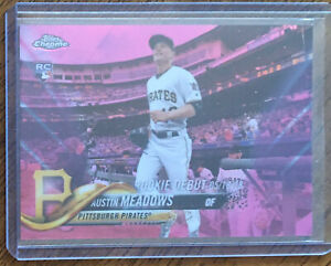 Austin-Meadows-2018-Topps-Chrome-RC-Pink-Refractor