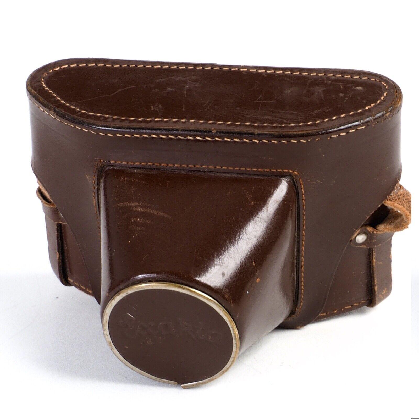^ Exakta Varex VX Leather Camera Everready Case [Missing Tripod Screw]